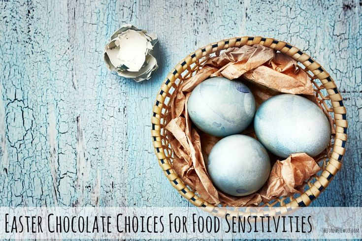 Easter chocolate choices for food sensitivities Organic, gluten free, dairy free, sugar free thefoodwerewolf.com #easter #organic #dairyfree #glutenfree