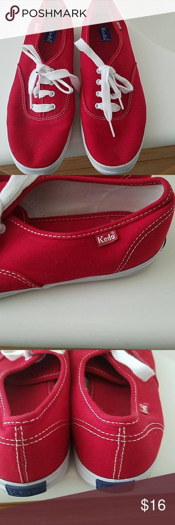 Let's women's tennis shoes Semi new red Keds tennis shoes Keds Shoes Sneakers