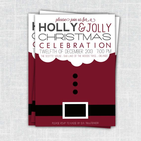 Best Holiday Party Invites Images On   Christmas
