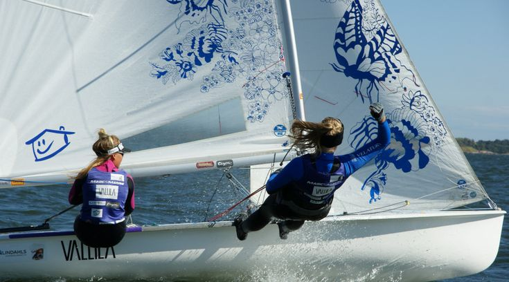 Sailing Team FIN 141 Girls Rosa and Rose on the way to Rio summer olympics 2016