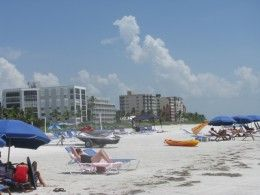 A Beautiful Day On The Beach In Fort Myers Beach, Florida.  See more by reading the article:  Visiting Fort Myers Beach, Florida | Things To Do In Fort Myers Beach