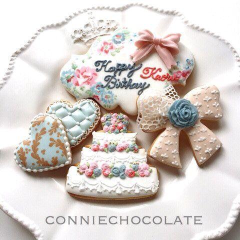 大人のお誕生日クッキー の画像|長久手、名古屋、日進アイシングクッキー教室,チョコプレート教室♩connie chocolate〜コニーチョコレート
