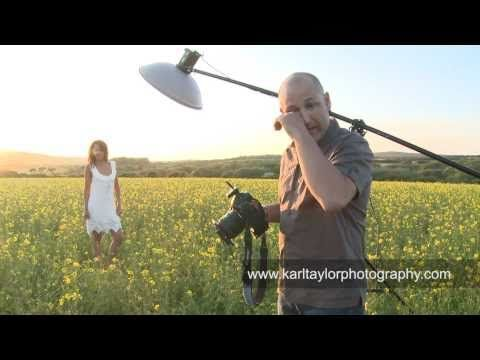 Sexy Fashion Shoot in a Field of Flowers! - Karl Taylor Photography