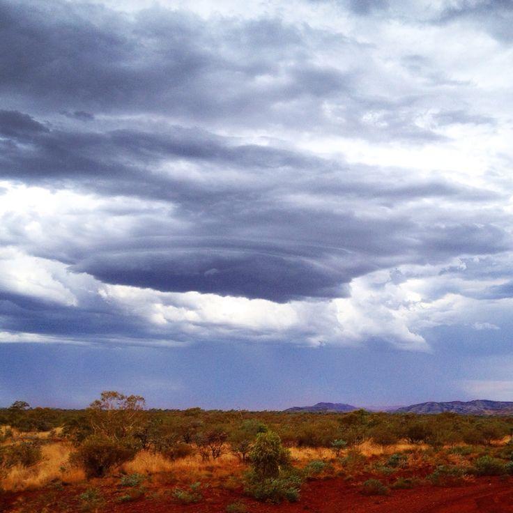 Storm approaching Solomon mine Western Australia