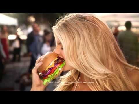 BAD: Charlotte McKinney - Carls Jr Ad Commercial - Super Bowl XLIX 2015 - The All Natural Burger - YouTube
