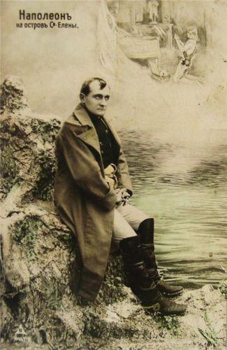 curious postcard of #Napoleon at #Saint #Helena
