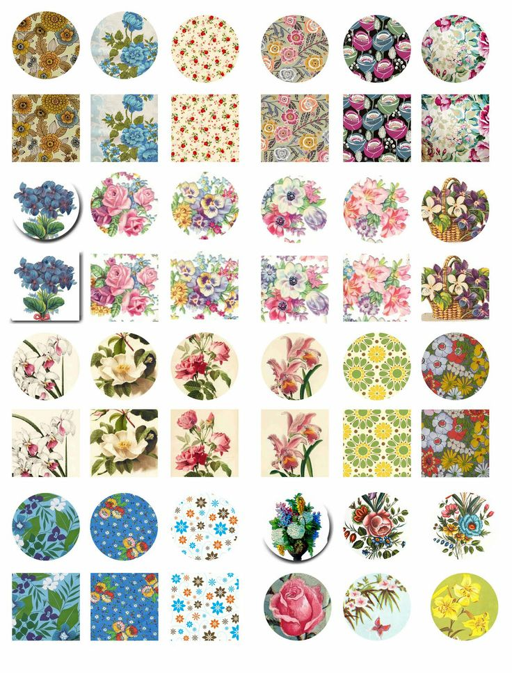 Vintage flowers and roses free digital bottle cap images for How to make bottle cap flowers
