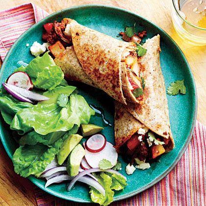 Potato, Chorizo, and Green Chile Burritos by My Recipes
