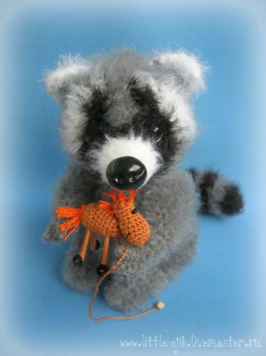 Купить Еноты - серый, енот, еноты, игрушка, енот игрушка, енотики, вязаная…