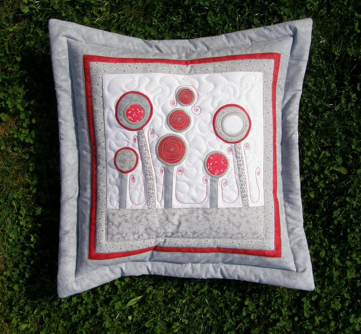 """Pillow """"In the land of the miracle"""" - pillow No.6 , cushion with flowers, pillow flower by Kajura on Etsy"""