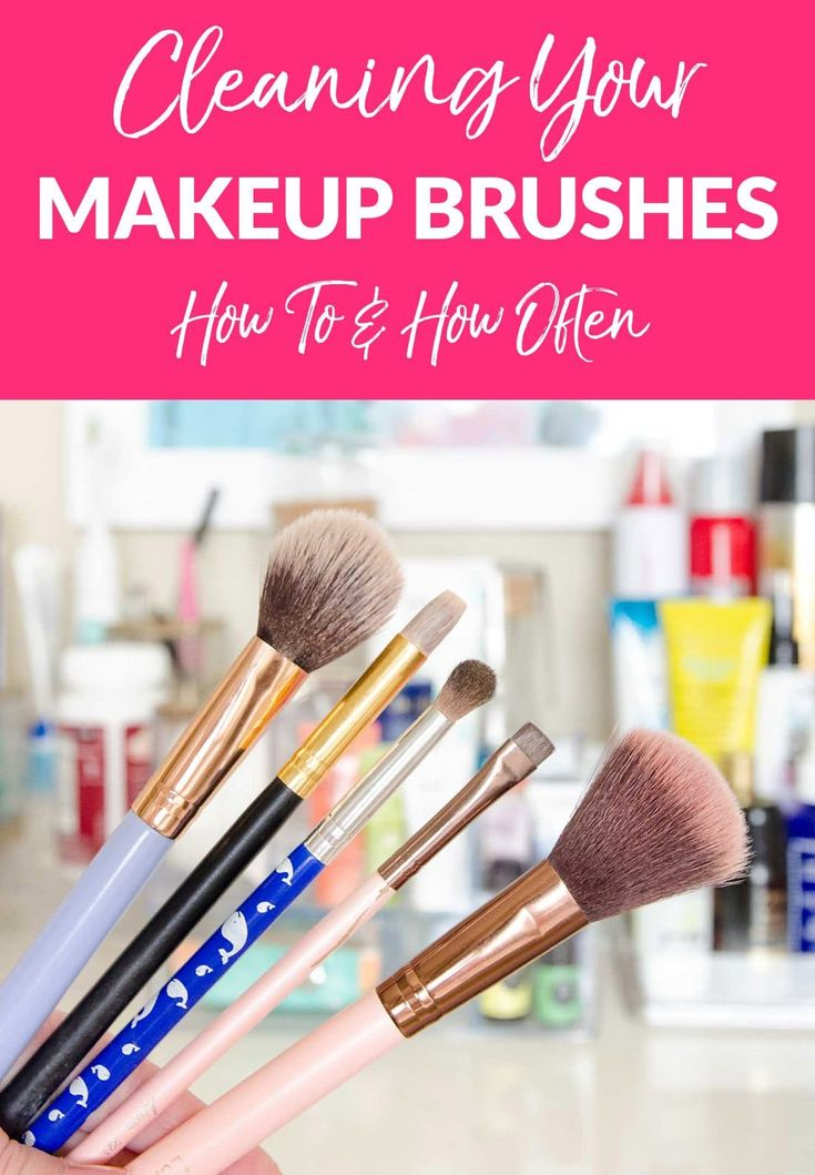 How often should you REALLY be cleaning your make up
