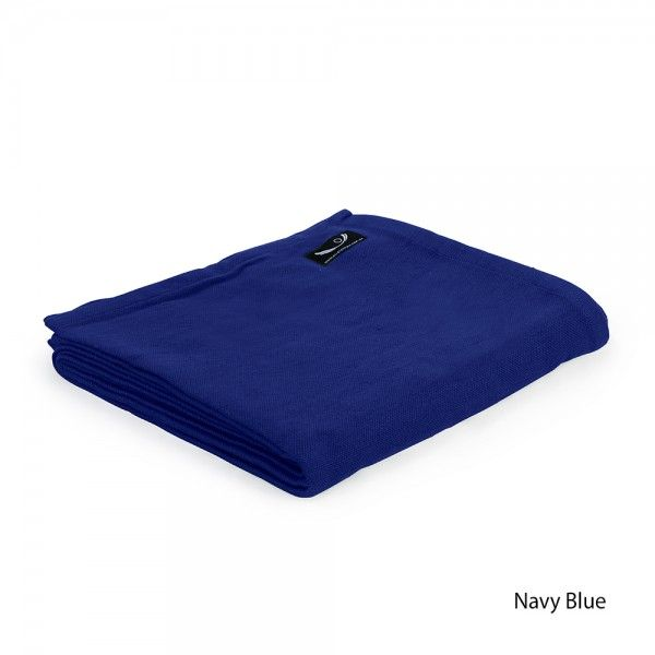 Yoga Blanket - Organic Cotton in Navy Blue