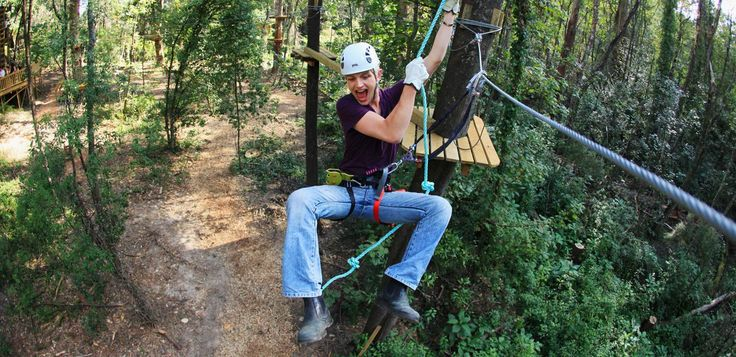 Trees Adventure is as exhilarating tree top course located in Sydney, Nowra and Melbourne. ziplines, flying foxes and tree canopy rope courses for all ages!