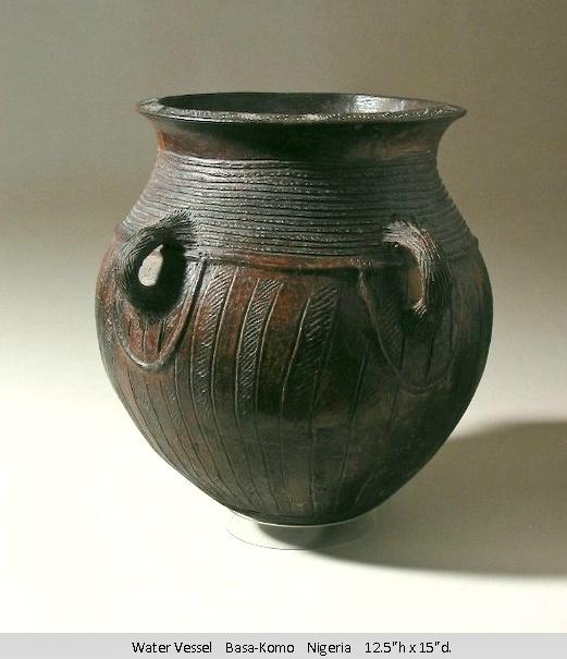 African Ceramic And Stone : Africa ceramic vessel nigeria african art ceramics