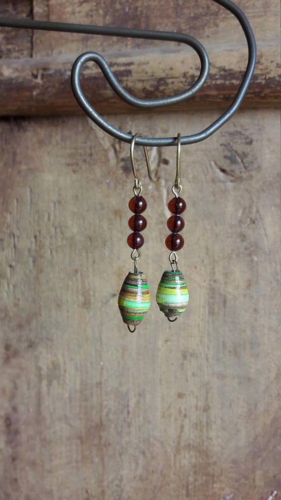 Green earring Brown earring Single earring Venetian
