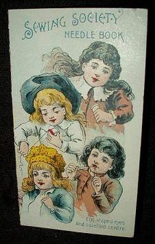 Victorian 1900 Children Advertising Cardboard Needle Packet Case