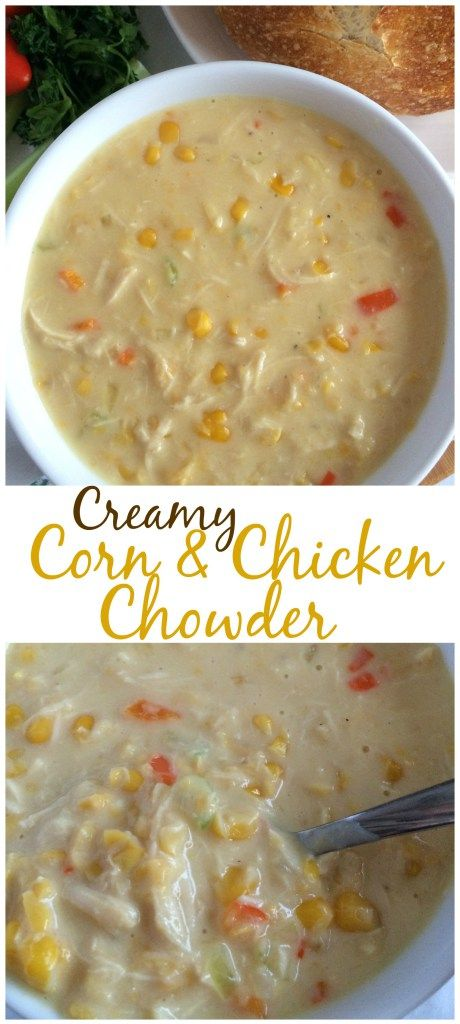CREAMY CORN & CHICKEN CHOWDER   comes together in 20 minutes! www.togetherasfamily.com