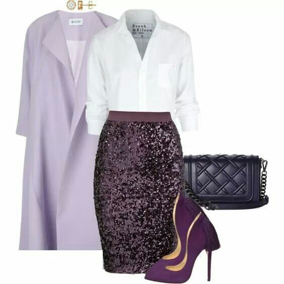 Purple, lilac and white