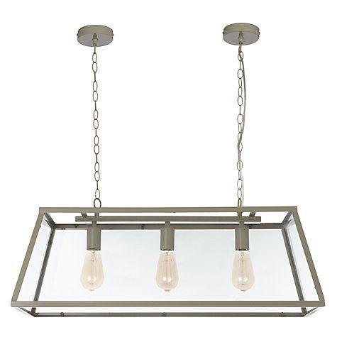 Buy John Lewis Chester Glazed Frame Triple Ceiling Light Online at johnlewis.com