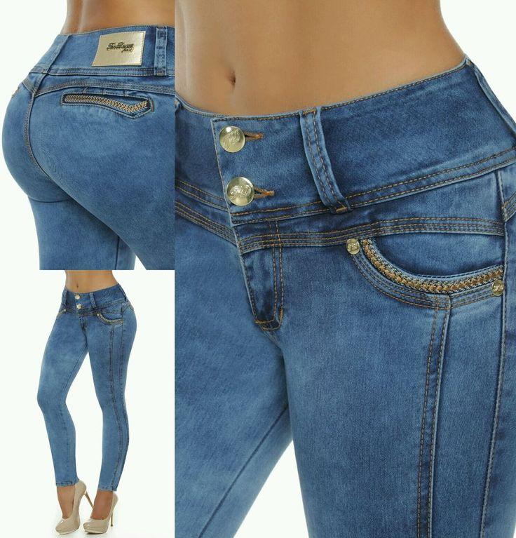 Jeans colombianos butt lifter fajas colombianas jeans levanta cola pompi 736 #Tendance #SlimSkinny