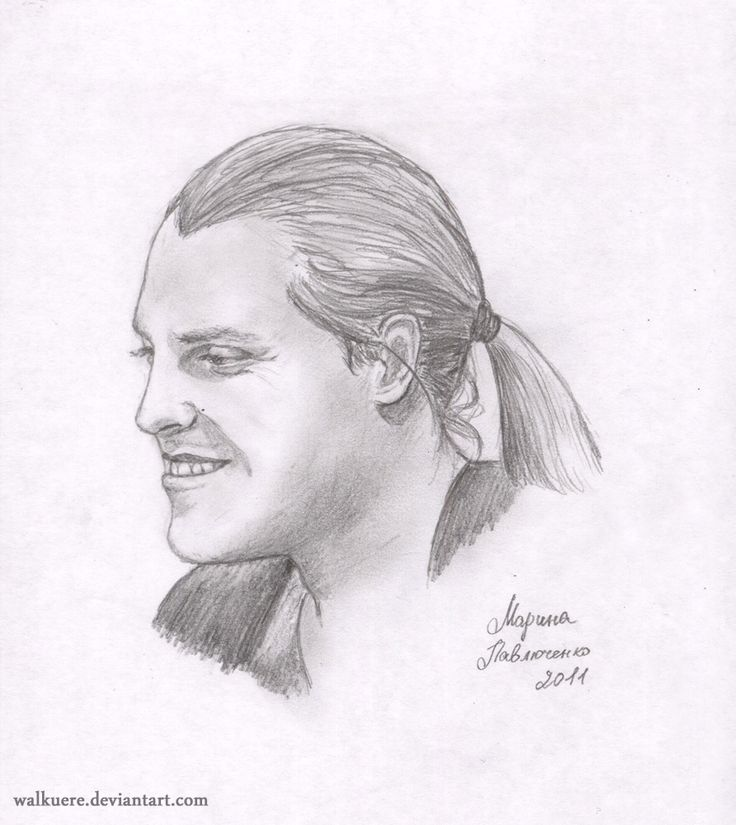 """He smiles.  Ivan Ozhogin. Russian actor of musicals (Graf von Krolock from """"Tanz der Vampire"""", Phantom from """"The Phantom of the Opera"""" Mankustrap from """"Cats"""", Romashov from """"Nord-Ost"""" and others).  A5, Pencil."""