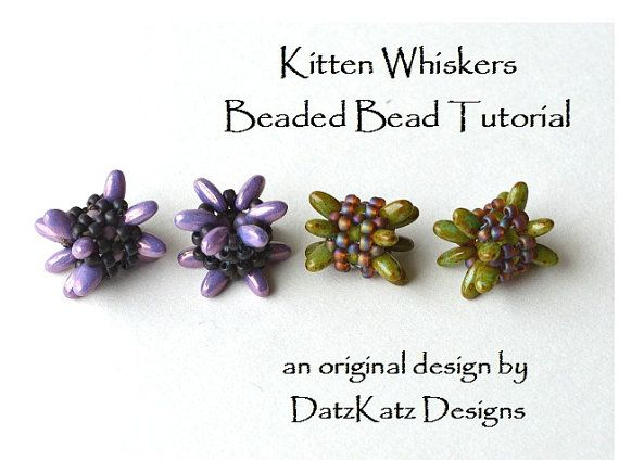 Kitten Whiskers Beaded Bead is an original design by Debra of DatzKatz Designs.  This listing is for the pattern - not the item in the photo. After payment you will be directed to a page where you can download the pattern. Due to the VAT (Value Added Tax) that is being charged in the EU (European Union) - If you are from a European Country please, contact me by email to make your purchase. Thanks.  The direct download PDF is for my Kitten Whiskers Beaded Bead pattern - A full color, 3 page…