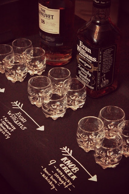 Whiskey Tasting...good bachelor party idea themarriedapp.com hearted <3 Awesome idea for the guys!!