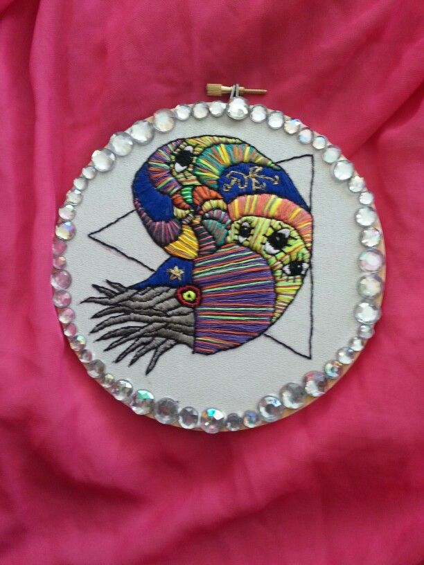 Embroidered chaos nautilus by Pickles LaVey