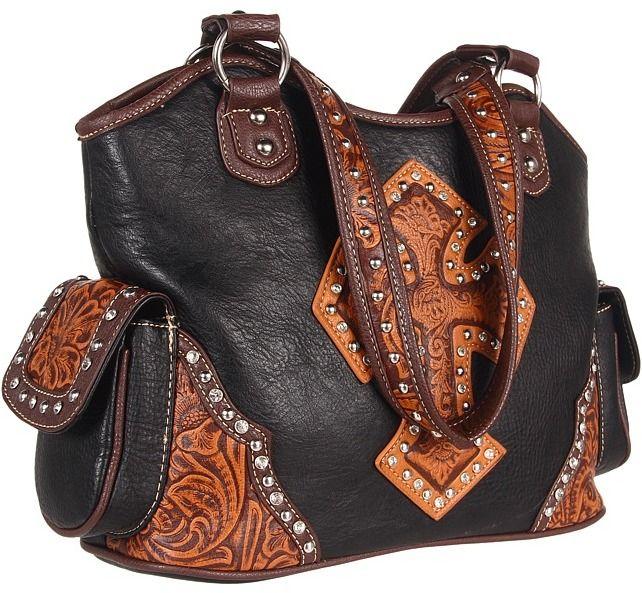 M&F Western - Tooled Cross Shoulder Bag Shoulder Handbags