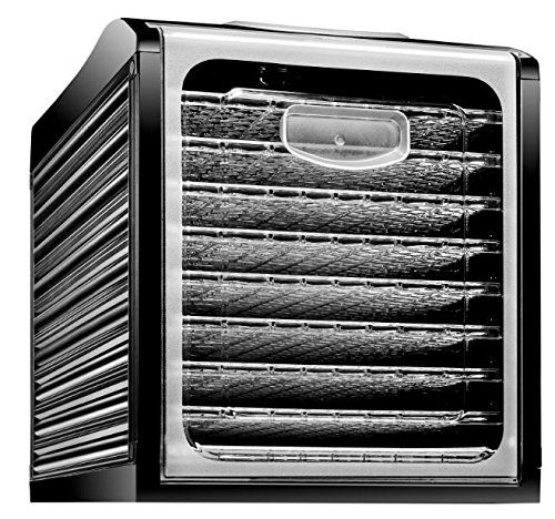 Chefman Food Dehydrator Machine Professional Electric Multi-Tier Food Preserver, Meat or Beef Jerky Maker, Fruit & Vegetable Dryer with 9 Slide Out Trays & Transparent Door - RJ43-SQ-9.