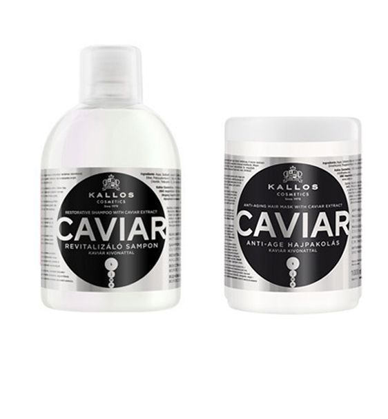 Kallos Caviar Restorative Shampoo + Hair Mask 1000ml  http://hairbeautycorner.gr/κατάστημα/kallos-caviar-restorative-shampoo-hair-mask-1000ml/