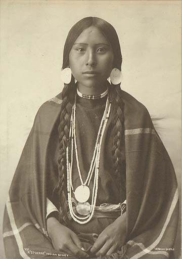 Spokane woman. 1897 #native #americans old-photography Pinned by indus® in honor of the indigenous people of North America who have influenced our indigenous medicine and spirituality by virtue of their being a member of a tribe from the Western Region through the Plains including the beginning of time until tomorrow.