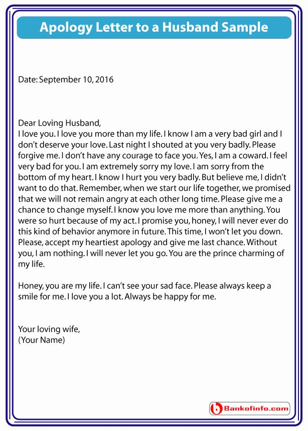 Letter To My Husband Unique Apology Letter To Husband Letters To My Husband Sorry Letter Lettering