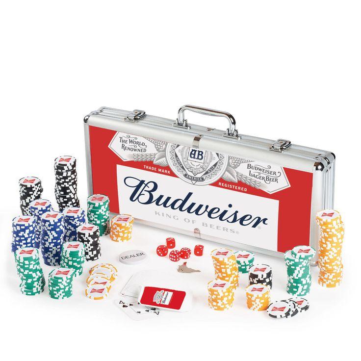Budweiser Poker Set Brand New Authentic Bud