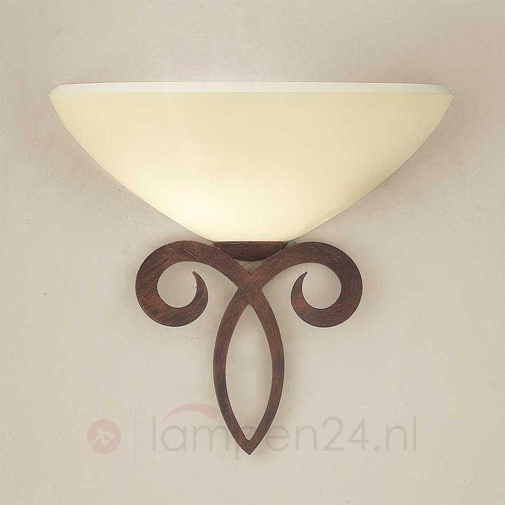 Glazen wandlamp Luca in landhuisstijl 6059208