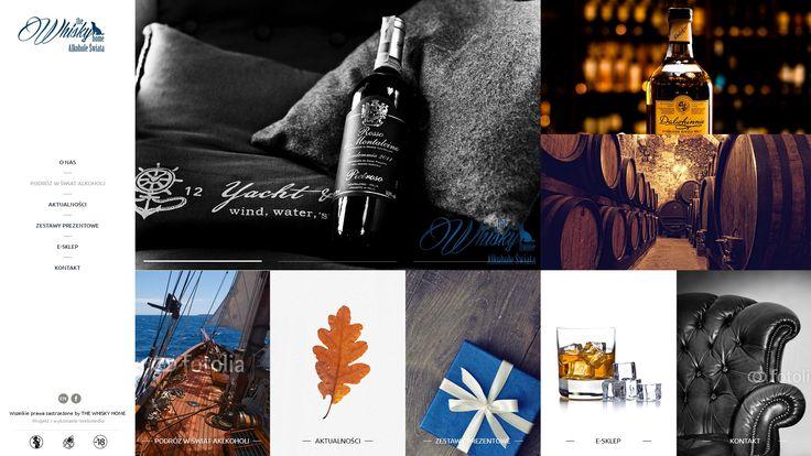 Projekt sklepu internetowego. Webmedio  #whisky_website #whisky_layout #metro_layout  http://www.webmedio.pl/