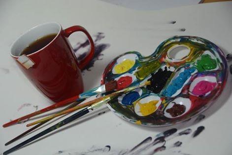 Cuando no te llegue la inspiración, tómate un break con color de té #break #descanso #té #tea