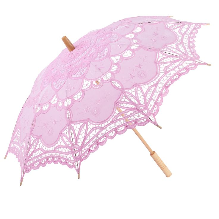 UMBR-040 Light Pink Victorian Inspired Cotton Lace Parasol ...