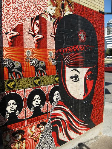 15 best images about sheppard fairey on pinterest for Austin mural wall