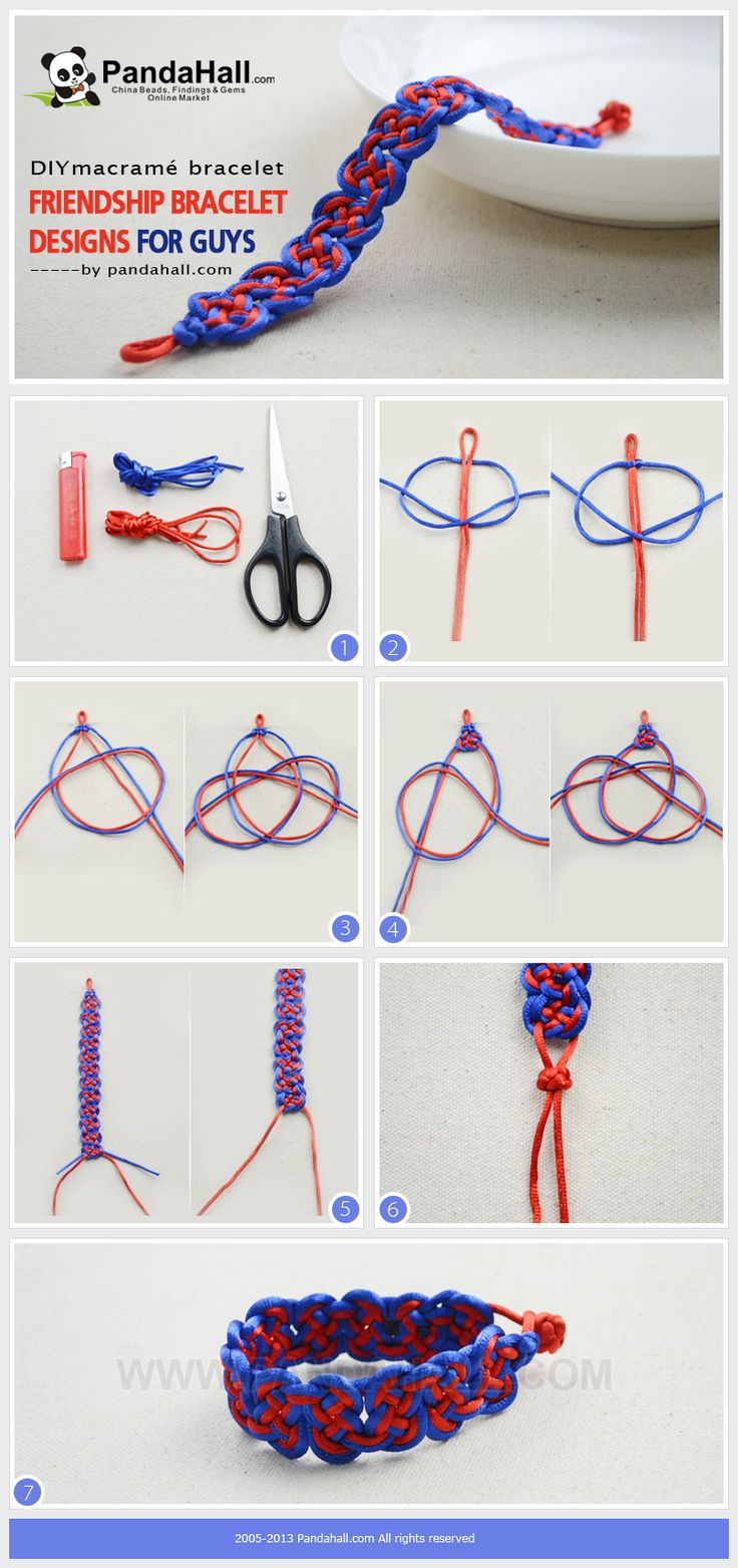 This DIY macramé bracelet tutorial aims to teach you an easy-to-learn way about making friendship bracelet design for guys. So It can be applied in your boys' gifts.