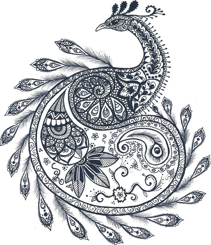 Mandala peacock pavone decorazioni decoration decorations flower details detail flowers animal idee tatuaggio tattoo disegno draw fenice