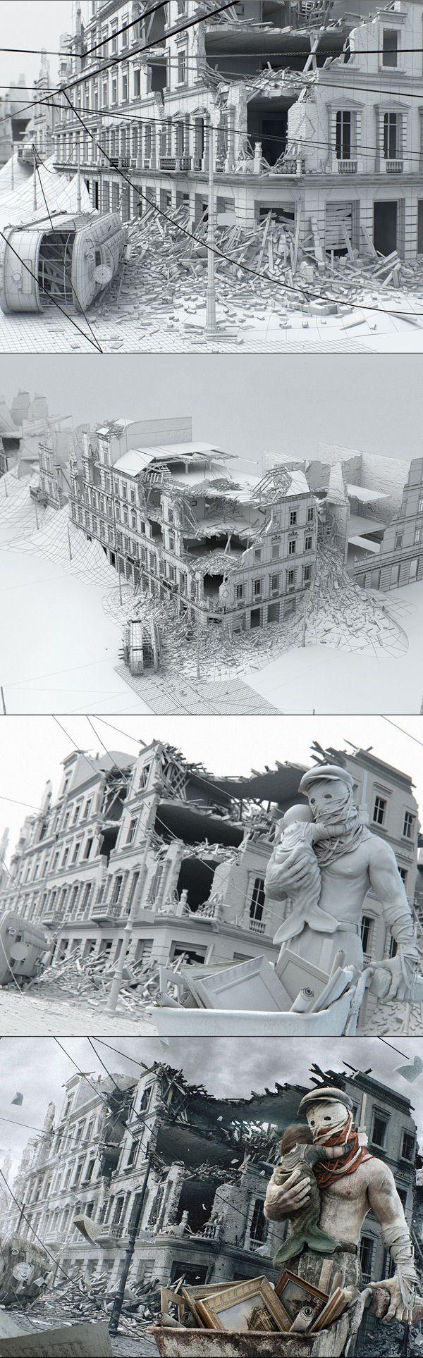 Warsaw - Phoenix City by STRZYG , via Behance