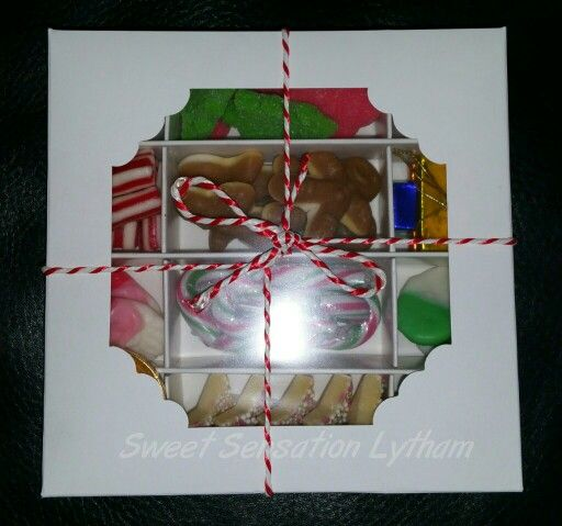 Christmas themed pick n mix box £4.99. Available to order from www.facebook.com/SweetSensationLytham or www.SweetSensationLytham.weebly.com