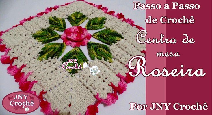 Centro de mesa de crochê Roseira por JNY Crochê