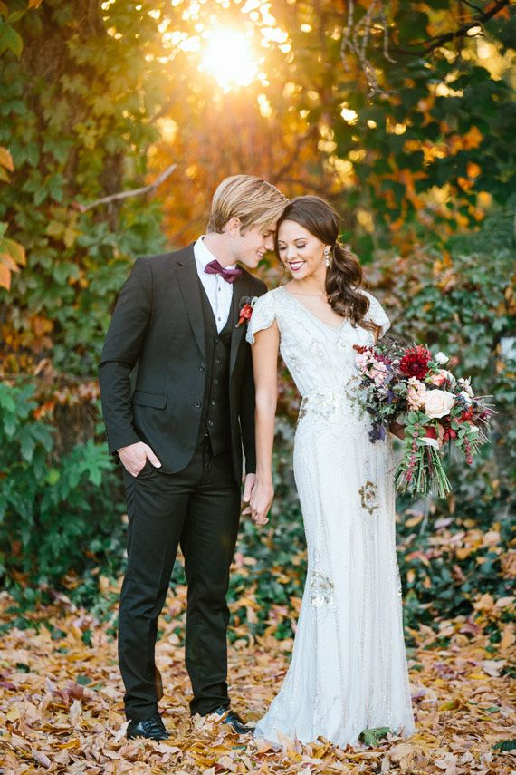 Rich plum and pink wedding inspiration | Photo by Alyssia B Photography