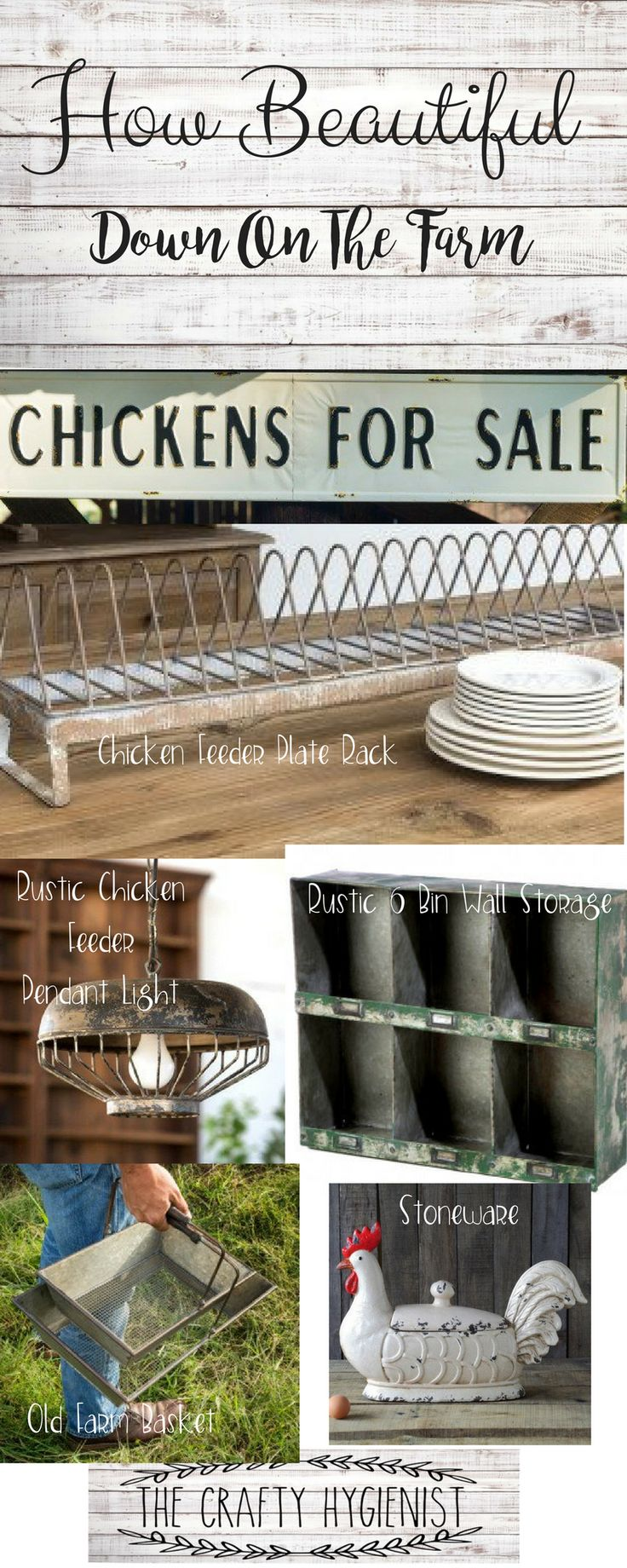 This post contains affiliate links and if you click the link and make a purchase I will receive a commission.  Hen House collection, chickens for sale sign, chicken feeder plate holder, chicken laying storage bin, basketschicken farmhouse decor | chicken farmhouse | chicken farmhouse kitchen | chicken farmhouse sign | chicken farmhouse ideas |