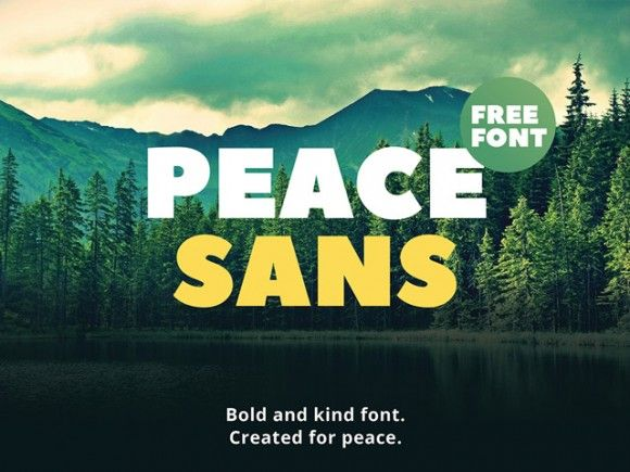This is the FREE Peace Sans by Sergey Ryadovoy and Ivan Gladkikh. This is a fantastic font that comes with both Latin and Cyrillic characters. It stands out due it its perfectly curved lettering.