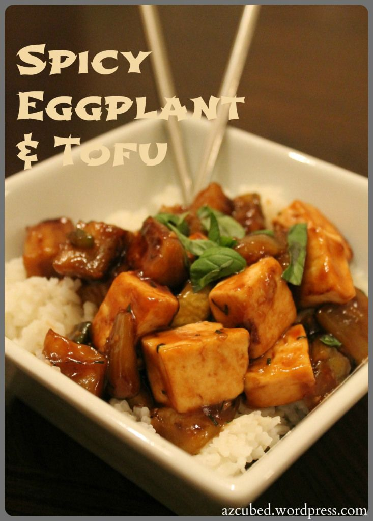 Spicy Eggplant & Tofu (substitute zucchini for eggplant and quinoa for ...