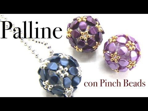 [Pattern/Tutorial] Necklace with pinch beads balls - DIY (Beads) - YouTube