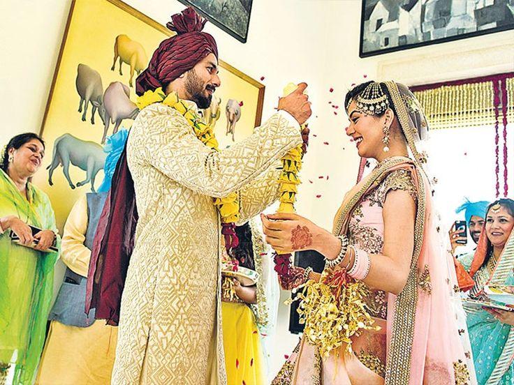 Bollywood heartthrob Shahid Kapoor at his wedding